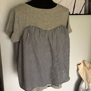 Plaid blouse nwot